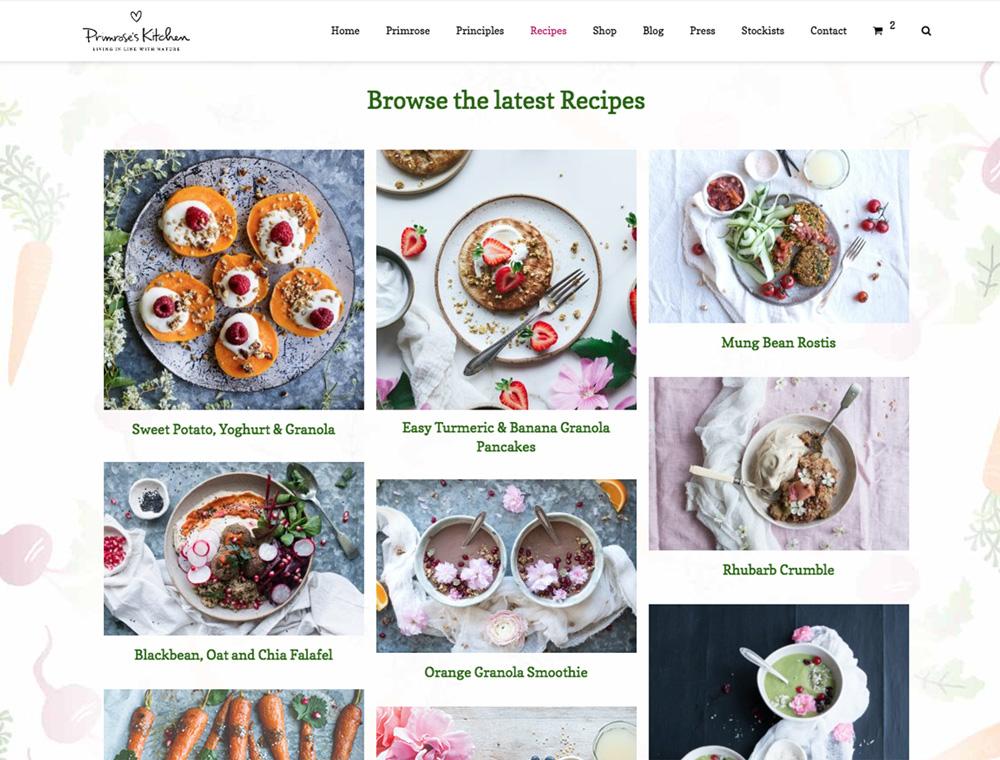 Recipe Archive Page: